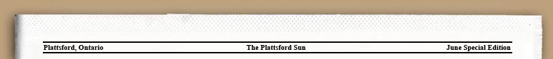 The Plattsford Sun, Special Edition
